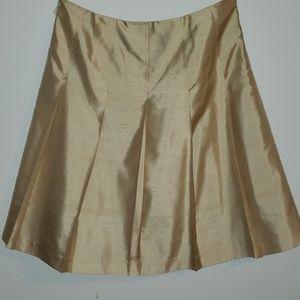 Gold Skirt 100% Silk